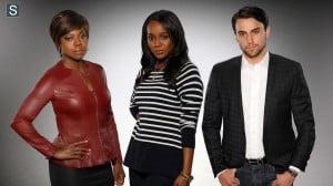 How to Get Away with Murder - Viola Davis as Professor Annalise Keating, Aja Naomi King as Michaela and Jack Falahee as Conner_FULL