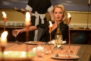 Deception - Sophia at dinner after funeral