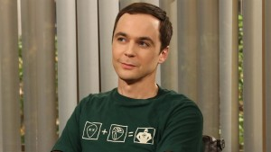 """The Tangible Affection Proof"" – While the guys try to give their significant others the perfect Valentine's Day, Raj and Stuart throw a ""lonely people"" party at the comic book store, on THE BIG BANG THEORY, Thursday, Feb. 14 (8:00 – 8:31 PM, ET/PT) on the CBS Television Network. Pictured: Sheldon (Jim Parsons). Photo: Michael Yarish/Warner Bros. ©2013 Warner Bros. Television. All Rights Reserved."