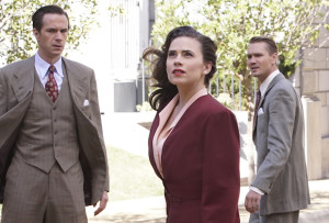 "MARVEL'S AGENT CARTER - ""Hollywood Ending"" - Peggy needs Howard Stark to eliminate Zero Matter as they are faced with a mission none of them could come back from, on the season finale of ""Marvel's Agent Carter,"" TUESDAY, MARCH 1 (9:00-10:00 p.m. EST) on the ABC Television Network. (ABC/Kelsey McNeal) JAMES D'ARCY, HAYLEY ATWELL, CHAD MICHAEL MURRAY"