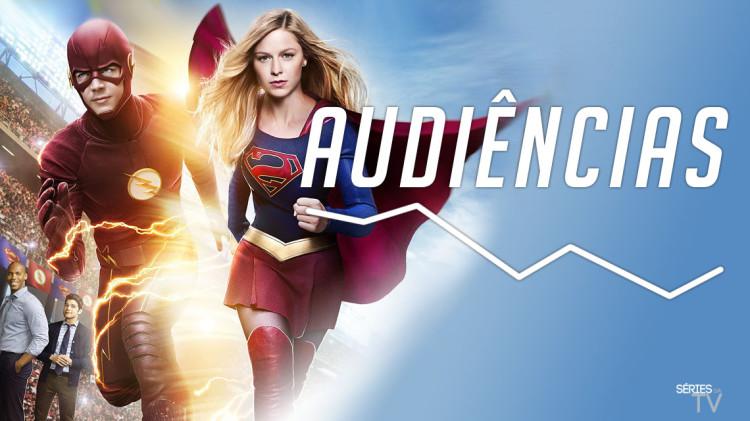 the flash supergirl audiencias