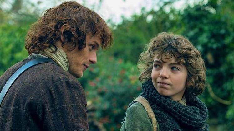 Outlander Season 208 - Sam Heughan and Romann Berrux