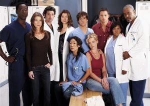 "GREY'S ANATOMY - (Standing) Isaiah Washington as ""Dr. Preston Burke,"" Ellen Pompeo as ""Meredith Grey,"" Patrick Dempsey as ""Dr. Derek Shepherd,"" Kate Walsh as ""Dr. Addison Shepherd,"" T.R. Knight as ""George O'Malley,"" Justin Chambers as ""Alex Karev,"" Chandra Wilson as ""Miranda Bailey,"" James Pickens, Jr. as ""Dr. Richard Webber,"" (Sitting) Sandra Oh as ""Cristina Yang"" and Katherine Heigl as ""Isobel 'Izzie' Stevens"" star on ""Grey's Anatomy"" on the ABC Television Network. (ABC/FRANK OCKENFELS) (STANDING) ISAIAH WASHINGTON, ELLEN POMPEO, PATRICK DEMPSEY, KATE WALSH, T.R. KNIGHT, JUSTIN CHAMBERS, CHANDRA WILSON, JAMES PICKENS, JR.; (SITTING) SANDRA OH, KATHERINE HEIGL"