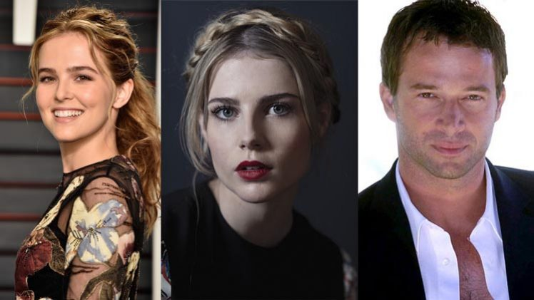 Zoey Deutch + Lucy Boynton + James Purefoy