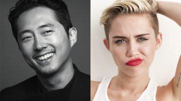 Steven Yeun e Miley Cyrus