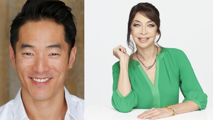 Leonardo Nam e Illeana Douglas