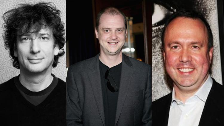 Neil Gaiman+Mike Flanagan+trevor macy