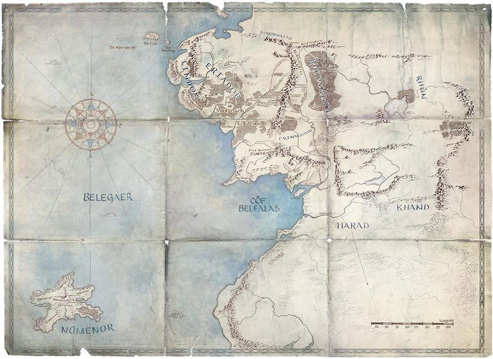Mapa Amazon Lord of The Rings