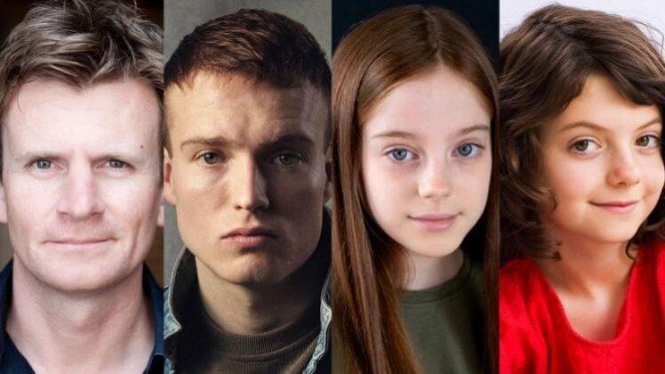 Charles Edwards, Will Fletcher, Amelie Child-Villiers e Beau Cassidy